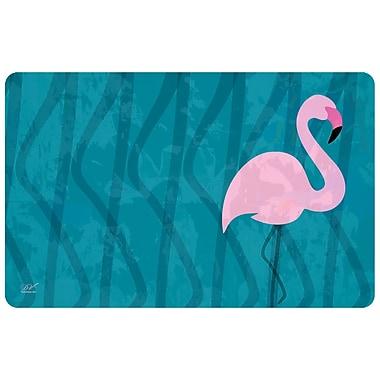 Bungalow Flooring Surfaces Flamingo Doormat; Blue