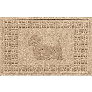 Bungalow Flooring Aqua Shield Yorkie Doormat; Camel