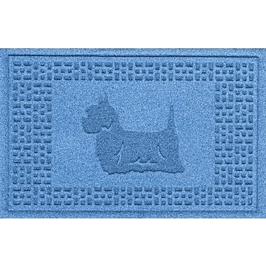 Bungalow Flooring Aqua Shield Yorkie Doormat; Medium Blue
