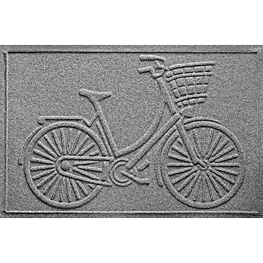 Bungalow Flooring Aqua Shield Nantucket Bicycle Doormat; Medium Gray