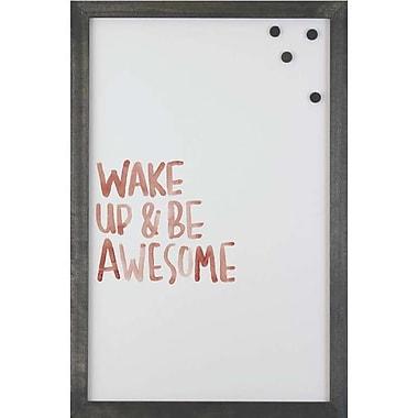Petal Lane Watercolor Wake Magnetic Memo Board; 2' 8'' H x 2' W