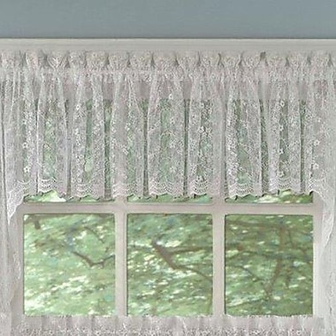 Sweet Home Collection Priscilla Lace Tailored Curtain Valance