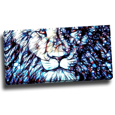 DesignArt Leader of the Pack - Lion Graphic Art on Wrapped Canvas