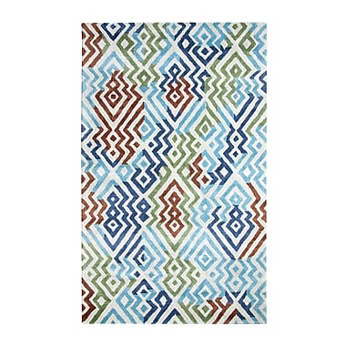 Dynamic Rugs Vogue Turquoise Area Rug; 8' x 11'