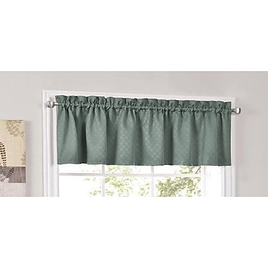 Sweet Home Collection Facets Blackout Insulated Kitchen Curtain Valance; Blue