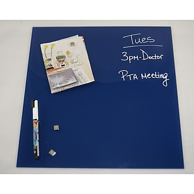 Better Houseware Magnetic Glass Board 17 3/4'' x 17 3/4''; Blue