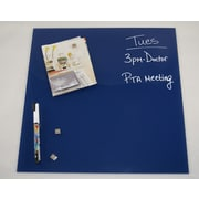Better Houseware Magnetic Glass Board 17 3/4'' x 17 3/4''; Blue