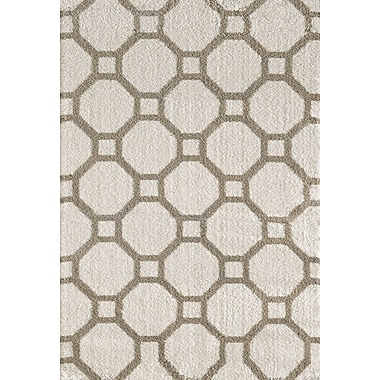 Dynamic Rugs Silky White/Beige Area Rug; 3'11'' x 5'7''