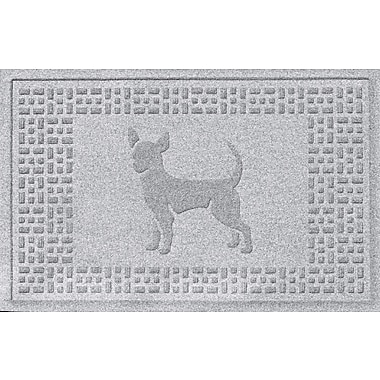 Bungalow Flooring Aqua Shield Chihuahua Doormat; White