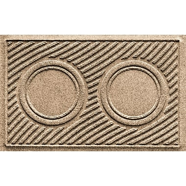 Bungalow Flooring Aqua Shield Wave Pet Feeder Doormat; Camel