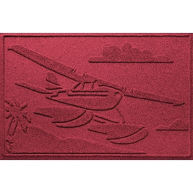Bungalow Flooring Aqua Shield Sea Plane Doormat; Red/Black