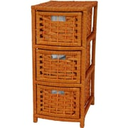 Oriental Furniture 3-Drawer Storage Chest; Honey