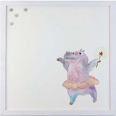 Petal Lane Watercolor Hippo Magnetic Memo Board; 2' H x 2' W