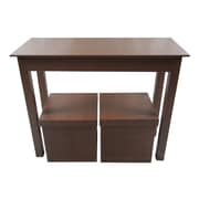Upscale Designs by EMA Console Table and 2 Matching Storage Ottoman