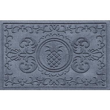 Bungalow Flooring Aqua Shield Baroque Pineapple Doormat; Bluestone