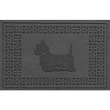 Bungalow Flooring Aqua Shield Yorkie Doormat; Charcoal