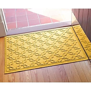 Bungalow Flooring Aqua Shield Interlink Doormat; Yellow