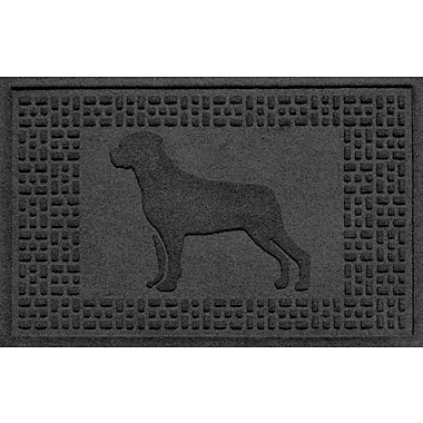 Bungalow Flooring Aqua Shield Rottweiler Doormat; Charcoal