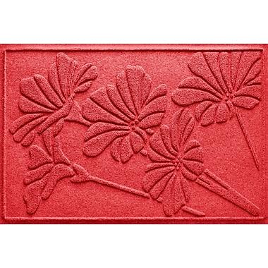 Bungalow Flooring Aqua Shield Spring Flowers Doormat; Solid Red
