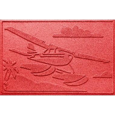Bungalow Flooring Aqua Shield Sea Plane Doormat; Solid Red