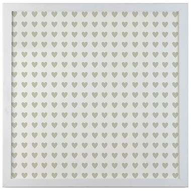 Petal Lane Patterns Mini Heart Magnetic Memo Board; 1' 4'' H x 1' 4'' W