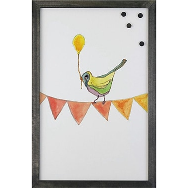 Petal Lane Watercolor Bird Balloon Magnetic Memo Board; 2' 8'' x 2' W