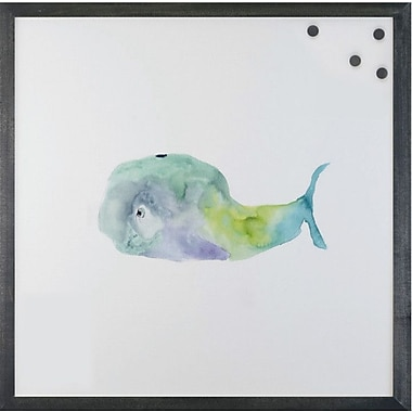 Petal Lane Watercolor Whale Magnetic Memo Board; 2' H X 2' W