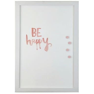 Petal Lane Watercolor Be Happy Magnetic Memo Board; 2' 8'' H x 2' W