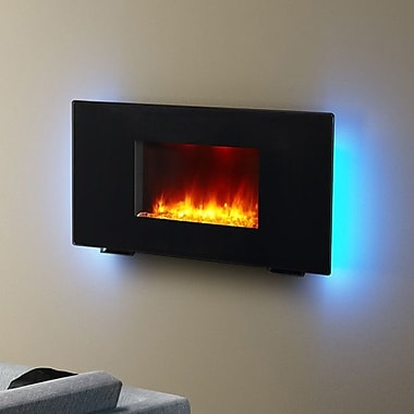 Puraflame 36'' Black 1350W Galena Wall Mount Electric Fireplace