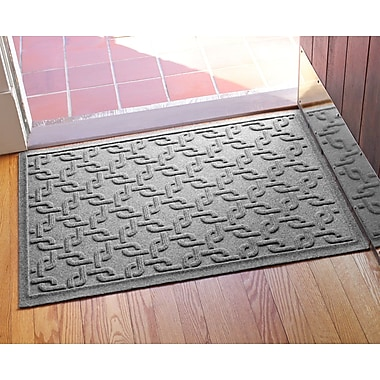 Bungalow Flooring Aqua Shield Interlink Doormat; Medium Gray