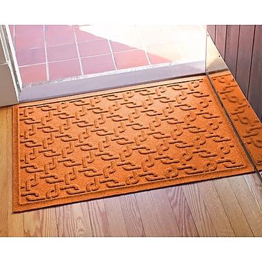 Bungalow Flooring Aqua Shield Interlink Doormat; Orange
