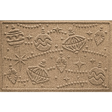 Bungalow Flooring Aqua Shield Ornaments Doormat; Camel
