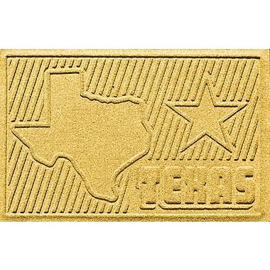 Bungalow Flooring Aqua Shield Texas Doormat; Yellow