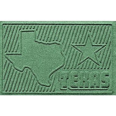 Bungalow Flooring Aqua Shield Texas Doormat; Light Green