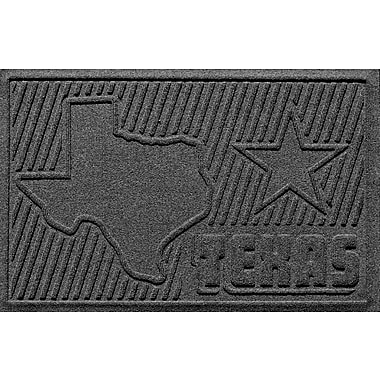 Bungalow Flooring Aqua Shield Texas Doormat; Charcoal