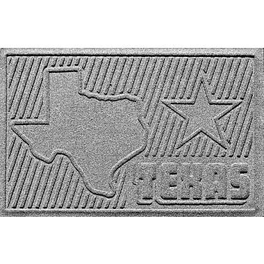Bungalow Flooring Aqua Shield Texas Doormat; Medium Gray