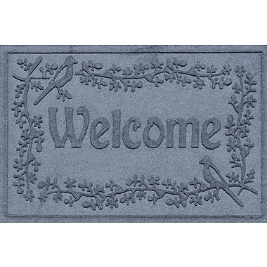 Bungalow Flooring Aqua Shield Bird on a Branch Welcome Doormat; Bluestone