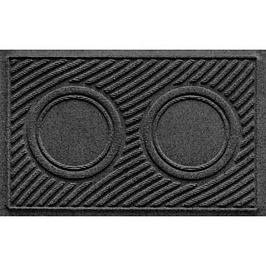 Bungalow Flooring Aqua Shield Wave Pet Feeder Doormat; Charcoal