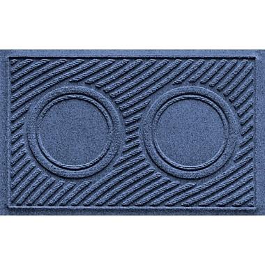 Bungalow Flooring Aqua Shield Wave Pet Feeder Doormat; Navy