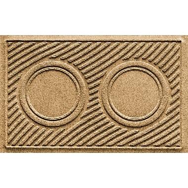 Bungalow Flooring Aqua Shield Wave Pet Feeder Doormat; Gold