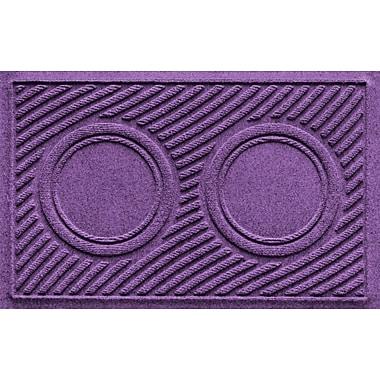Bungalow Flooring Aqua Shield Wave Pet Feeder Doormat; Purple