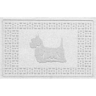 Bungalow Flooring Aqua Shield Yorkie Doormat; White