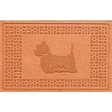Bungalow Flooring Aqua Shield Yorkie Doormat; Orange