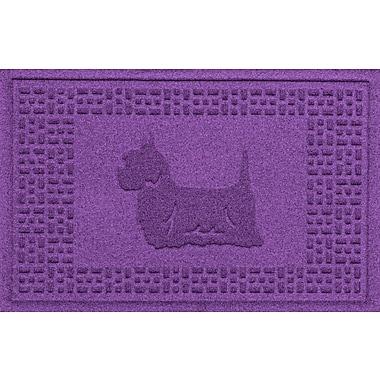 Bungalow Flooring Aqua Shield Yorkie Doormat; Purple