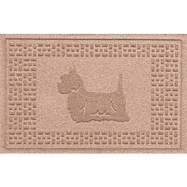 Bungalow Flooring Aqua Shield Yorkie Doormat; Medium Brown