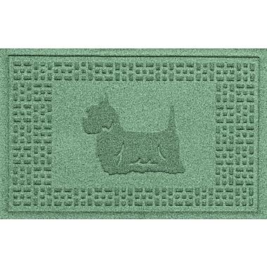 Bungalow Flooring Aqua Shield Yorkie Doormat; Light Green