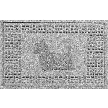 Bungalow Flooring Aqua Shield Yorkie Doormat; Medium Gray