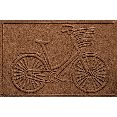Bungalow Flooring Aqua Shield Nantucket Bicycle Doormat; Dark Brown