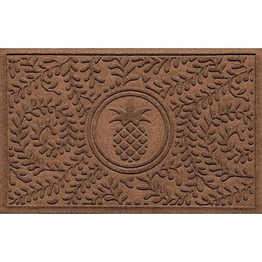 Bungalow Flooring Aqua Shield Boxwood Ship's Wheel Doormat; Dark Brown