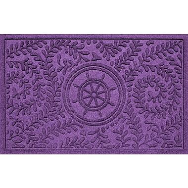 Bungalow Flooring Aqua Shield Boxwood Ship's Wheel Doormat; Purple